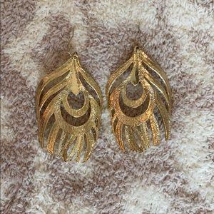 Kendra Scott Feather Statement Earrings